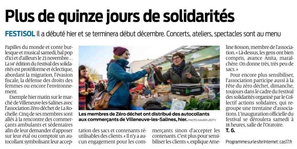 Marathon commerçants Zéro Déchet Villeneuve Les Salines